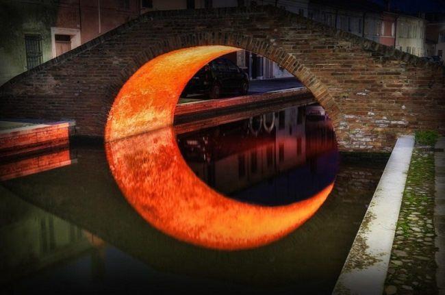 Moon Bridge, Ferrara, Italy