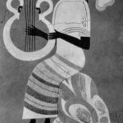 Musician. Fragment of the fresco