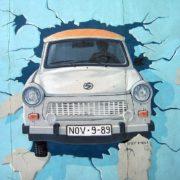 One symbolic graffiti of the Berlin Wall