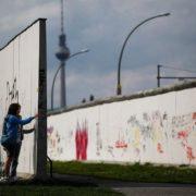 Part of the Berlin Wall lwith graffiti, August 12, 2011. Photo by Pawel Kopczynski Reuters