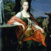 Portrait as a lady, dressed as Diana. Pompeo Batoni, 1776