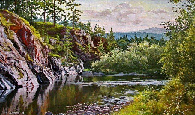 Pretty Ural Mountains by Alexander Samokhvalov