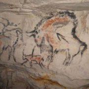 Rock paintings in Kapova Cave