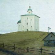 Ryabushkin Andrei Petrovich. Novgorod church, 1903