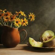 Stunning still life with melon