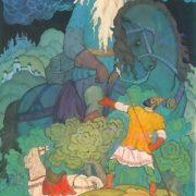 Svyatogor and Ilya Muromets. Artist V. Fokeev