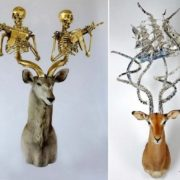 The armed horns, the sculptures by Peter Gronquist