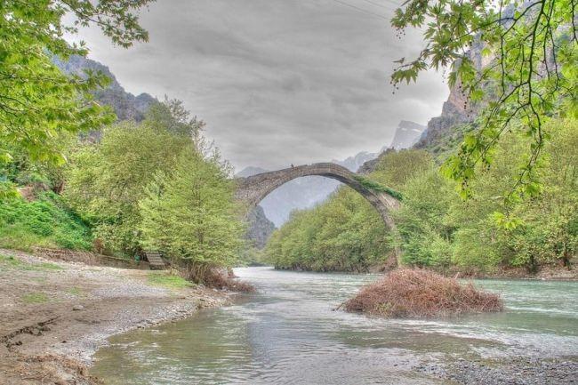 The bridge of Konitsa, Greece