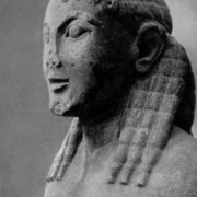 The head of the statue of Cleobis (or of Benton)
