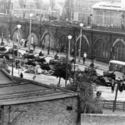 The tanks at Varshauerstrasse in Berlin, August 13, 1961