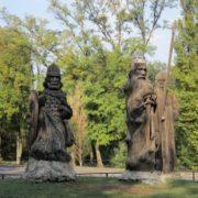 Three bogatyrs in Rostov-on-Don, Russia