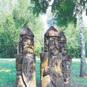 Three bogatyrs in Samara, Russia