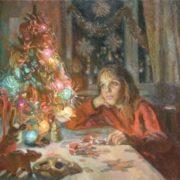 Tsagaraev Maxim Maksimovich. At the New Year tree. 1998