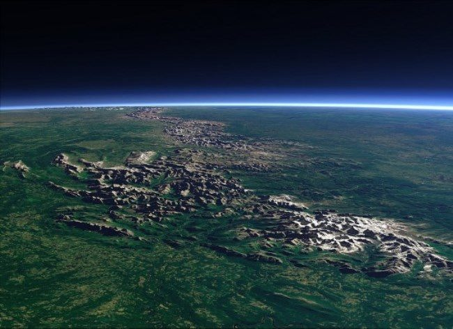 Ural Mountains from space