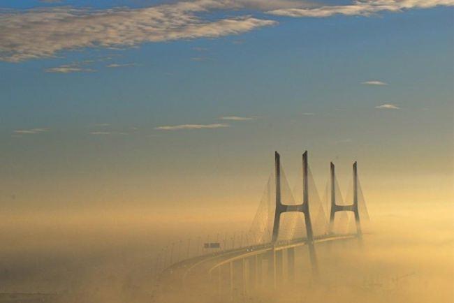 Vasco da Gama Bridge, near Lisbon