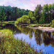 Wonderful Ural Mountains by Russian artist Alexander Samokhvalov