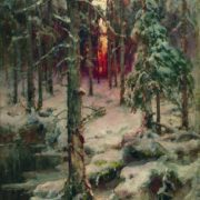 Yuliy Yulevich Klever. Winter. Pinery. 1910