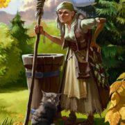 Baba Yaga and her cat