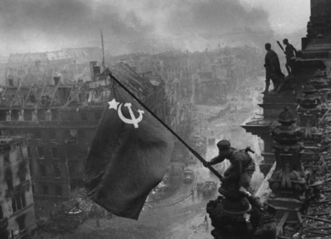 Banner of Victory over the Reichstag, Eugene Khaldei, 1945