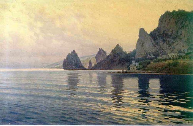 Baturin Viktor Pavlovich. Coast. The rocks of Semeiz, 1912