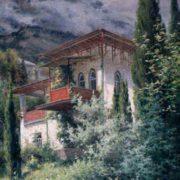 Baturin Viktor Pavlovich. Crimean landscape. The beginning of the 20th century