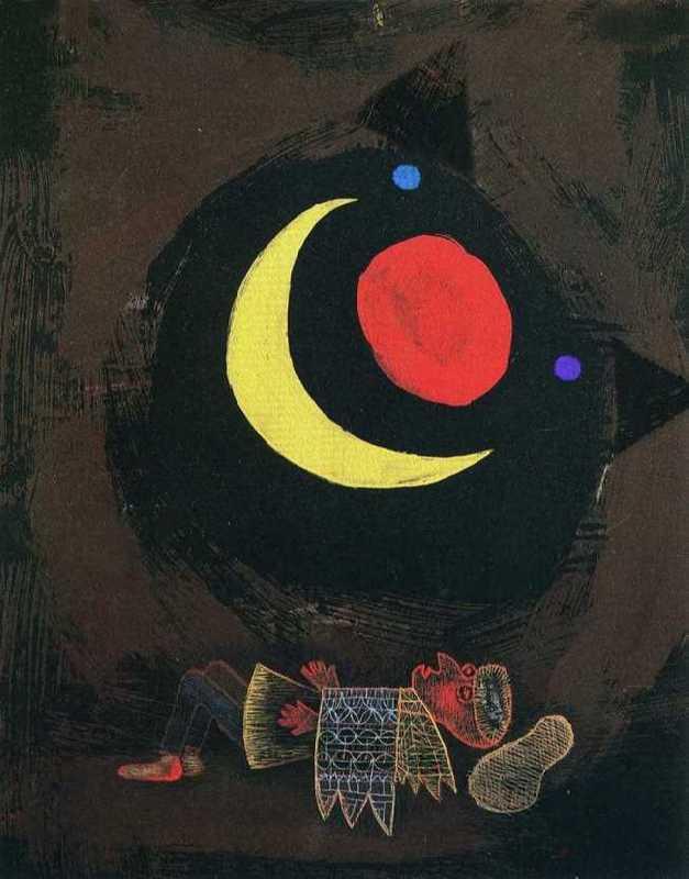 Bright Dream. Original - Paul Klee, The Strong Dream