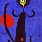 Cat in front of the Moon. Original - Juan Miro, Woman in Front of the Sun