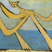 Cat with a ball. Original - Pablo Picasso, Bather
