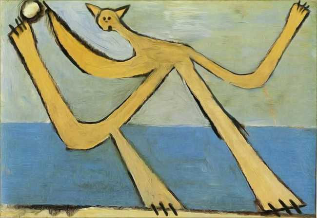Cat with a ball. Original - Pablo Picasso, Bather