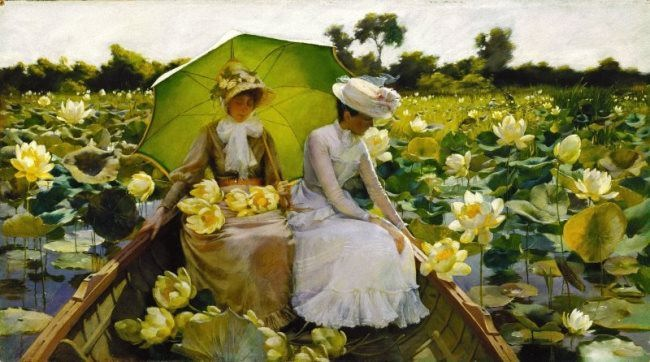 Charles Courtney Curran. Lotus Lilies. 1888. Terra Museum of American Art, Chicago