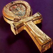 Cross with scarab