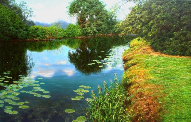 David Smith. Landscape with lilies
