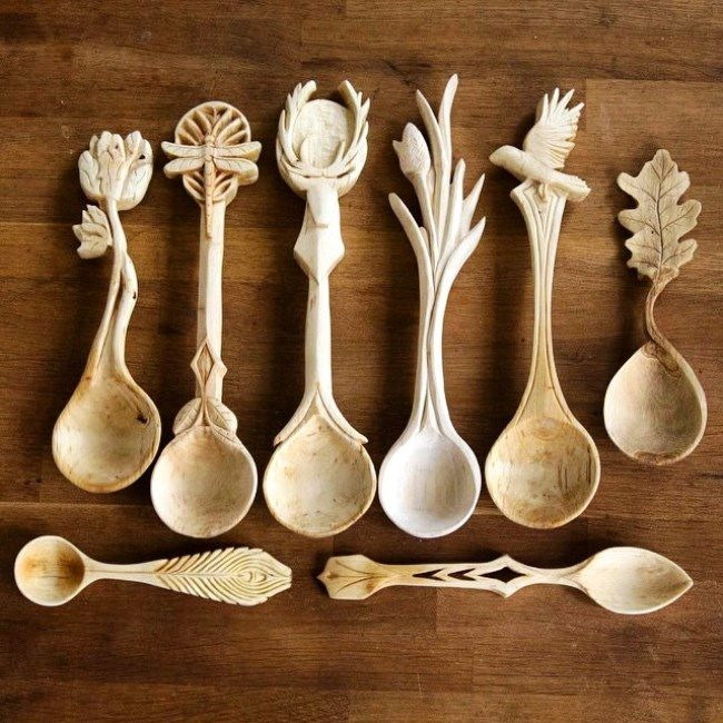 Giles Newman. Amazing carved spoons