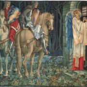 Holy Grail tapestry. The Failure of Sir Gawaine
