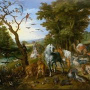 Jan Brueghel. Noah gathers animals for the ark. 1613