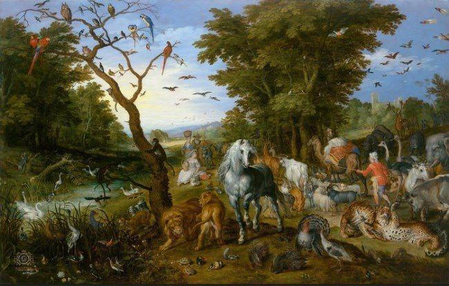 Jan Brueghel. Noah gathers animals for the ark. 1613