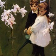 John Singer Sargent. Garden Study of the Vickers Children, 1884
