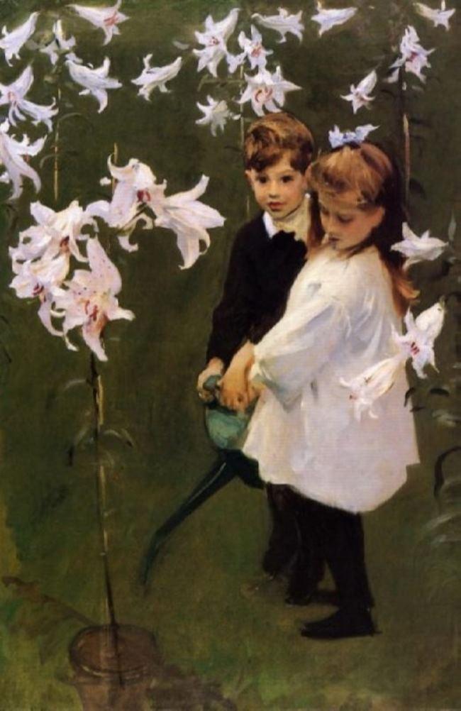 John Singer Sargent. Garden Study of the Vickers Children, 1884