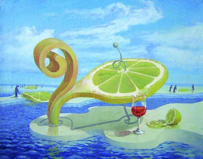 Lemon on the ice by Vitaliy Urzhumov