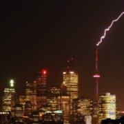 Lightning strike and CN Tower