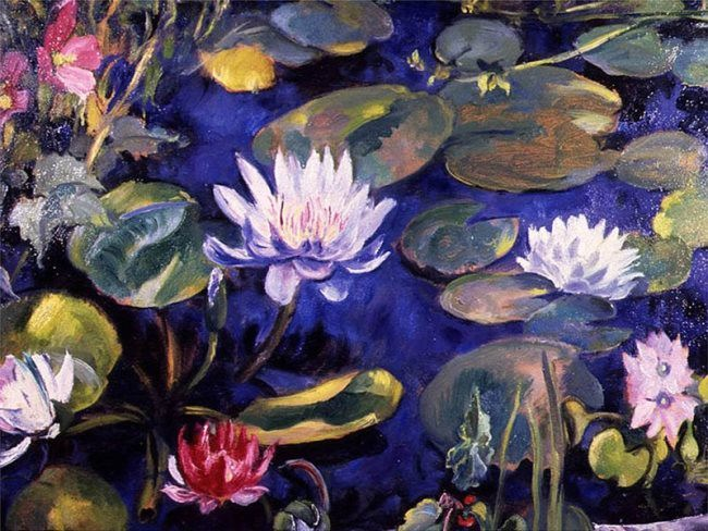 Martha Walter. Lilies in the pond