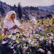 Melikhov Georgiy Stepanovich. Portrait of the brigadier of the Crimean essential oil farm Rose Valley Vera Repicheva, 1961