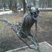 Monument to Baba-Yaga in Donets, Ukraine