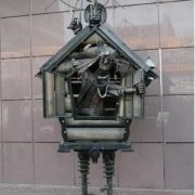 Monument to Baba Yaga in Moscow, Russia