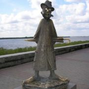 Monument to Chekhov in Tomsk, Russia