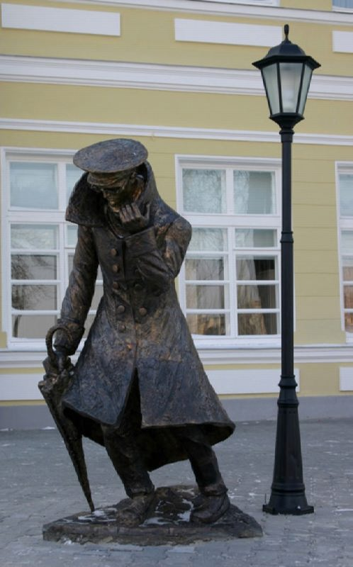 Monument to Chekhov's Man in a Case in Taganrog, Russia