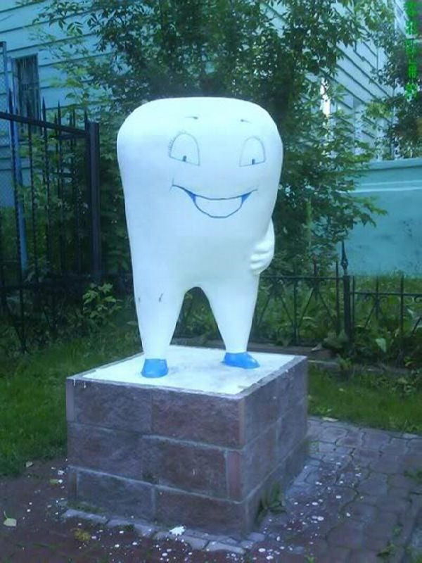 Monument to a tooth in Tomsk, Russia