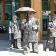 Monument to businessmen in Odessa, Ukraine