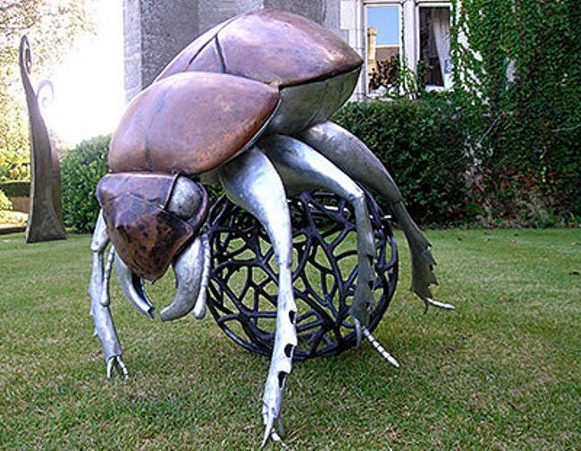 Monument to the Scarab beetle in Brussels, Belgium