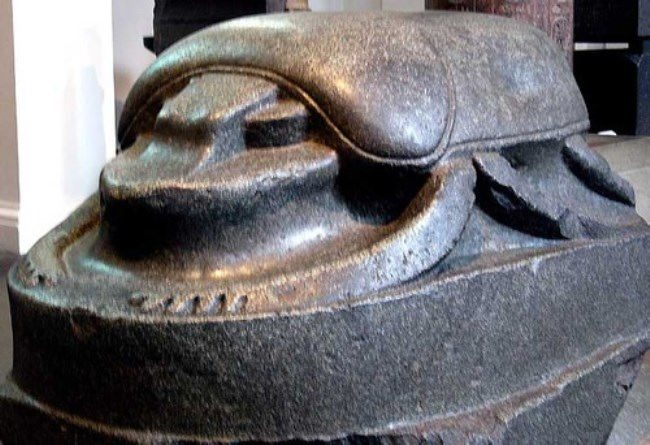 Monument to the Scarab beetle in the British Museum, UK